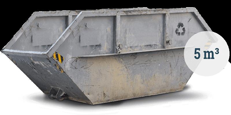 5 Kubikmeter Container für gemischte Siedlungsabfälle