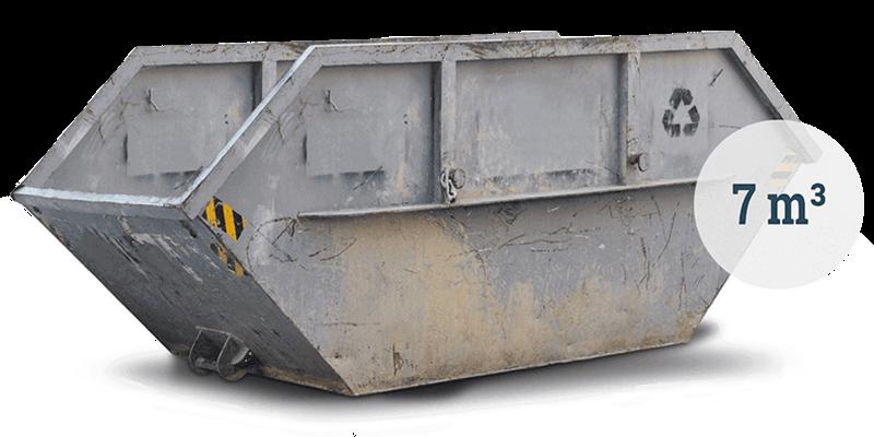 Großer Container für Gewerbeabfall