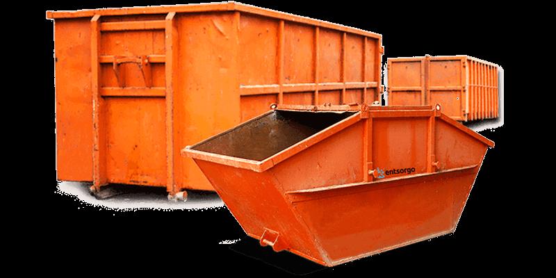 Abrollcontainer Gasbeton Steine