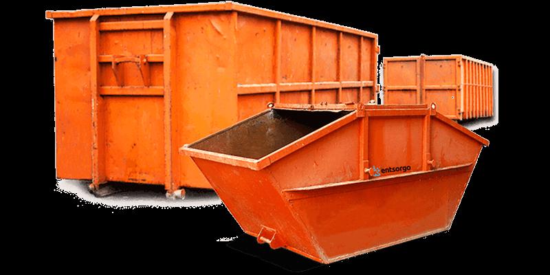 Abrollcontainer für Gewerbeabfall