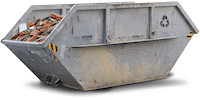 Bauschutt container Wupprtal