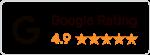 Dieses Bild zeigt: ein Bewertungssiegel von Google mit 5 Sterne Bewertung