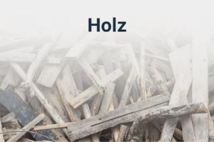Holz entsorgen und Holzabfall